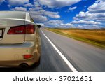the car on highway | Shutterstock . vector #37021651