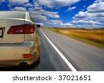 the car on highway   Shutterstock . vector #37021651