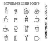 beverage line icons  mono... | Shutterstock .eps vector #370222847