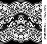 black damask vintage floral... | Shutterstock .eps vector #370224041