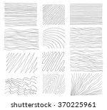 a set of hand drawn textures.... | Shutterstock .eps vector #370225961