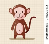 animal monkey cartoon theme... | Shutterstock .eps vector #370228415