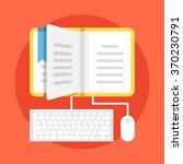 learning flat illustration.... | Shutterstock .eps vector #370230791