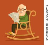 old man sitting in rocking... | Shutterstock .eps vector #370230941