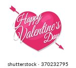happy valentine's sign on heart ...   Shutterstock .eps vector #370232795