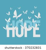 hope inscription. vector flat...