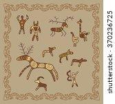 baikal petroglyphs illustration ...   Shutterstock .eps vector #370236725