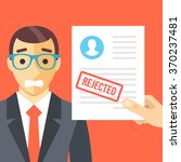 sad man and rejected... | Shutterstock .eps vector #370237481