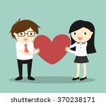 business concept  love in... | Shutterstock .eps vector #370238171