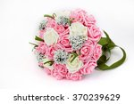 holding flowers  pink flowers | Shutterstock . vector #370239629