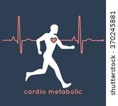cardio metabolic logo vector | Shutterstock .eps vector #370245881