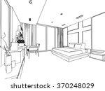 outline sketch drawing... | Shutterstock .eps vector #370248029