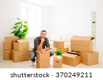 moving to a new apartment.... | Shutterstock . vector #370249211