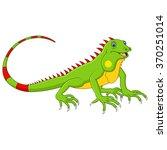 cartoon cute lizard   Shutterstock .eps vector #370251014