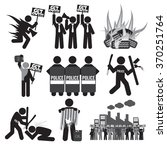 black symbol protest icon set... | Shutterstock .eps vector #370251764