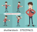 set of young businessman... | Shutterstock .eps vector #370259621