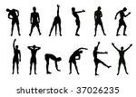 exercise fitness | Shutterstock .eps vector #37026235