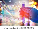double exposure of scientist... | Shutterstock . vector #370263329
