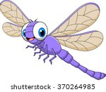 Cartoon Funny Dragonfly...
