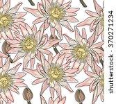 lotos fabric pattern.seamless... | Shutterstock .eps vector #370271234