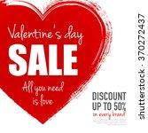 valentine's day sale.grungy... | Shutterstock .eps vector #370272437
