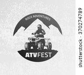 atv emblem on grunge grey... | Shutterstock .eps vector #370274789