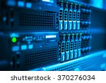 Small photo of Network servers in data room .