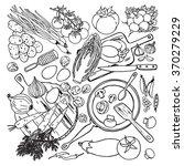 vegetarian and vegan food... | Shutterstock .eps vector #370279229