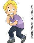illustration of a boy terrified ... | Shutterstock .eps vector #370282391