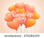glossy heart shaped balloons... | Shutterstock .eps vector #370283255