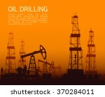 drilling rigs and oil pumps at... | Shutterstock .eps vector #370284011