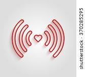 heart wifi. vector heart... | Shutterstock .eps vector #370285295