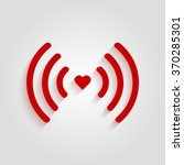 heart wifi. vector heart... | Shutterstock .eps vector #370285301