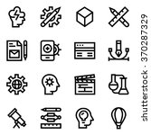 creative package line icon set... | Shutterstock .eps vector #370287329