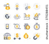 business investing icons | Shutterstock .eps vector #370288451