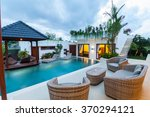 modern villa outdoor with... | Shutterstock . vector #370294121