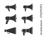 set of megaphone graphic icons. ... | Shutterstock .eps vector #370295591