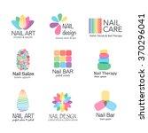 vector logotype design for nail ... | Shutterstock .eps vector #370296041