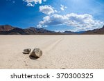 racetrack in the death valley... | Shutterstock . vector #370300325