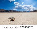 racetrack in the death valley... | Shutterstock . vector #370300325