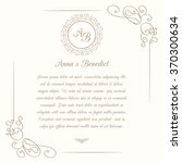 invitation card with floral... | Shutterstock .eps vector #370300634