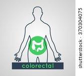 colorectal logo vector | Shutterstock .eps vector #370304075