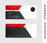 red and black gift voucher... | Shutterstock .eps vector #370306439
