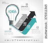 flat linear infographic lamp... | Shutterstock .eps vector #370311365