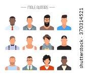 male avatar icons vector set.... | Shutterstock .eps vector #370314521