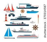 sea vector set of ships  boats... | Shutterstock .eps vector #370314587