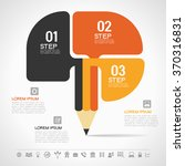 creative template with pencil... | Shutterstock .eps vector #370316831