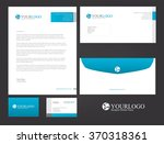 corporate stationery design | Shutterstock .eps vector #370318361