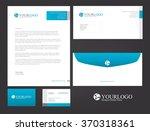 corporate stationery design | Shutterstock .eps vector #370318361