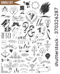 hand drawn set of design...   Shutterstock .eps vector #370326287